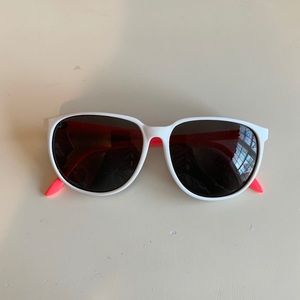 H&M Oversized Sunglasses White Neon Pink Coral